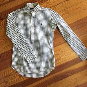Men's Ralph Lauren Yellow Plaid Dress Shirt